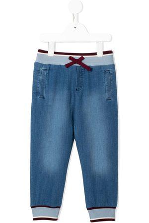 Dolce & Gabbana Girls Pants - Jersey denim track pants
