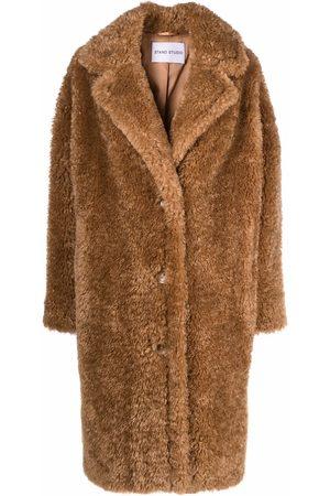 Stand Studio Women Coats - Oversized faux fur coat