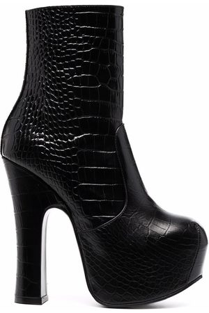 Vivienne Westwood Women Heeled Boots - Elevated leather platform boots