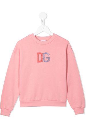 Dolce & Gabbana Embroidered logo cotton sweatshirt