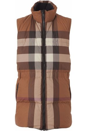 Burberry Check pattern padded gilet