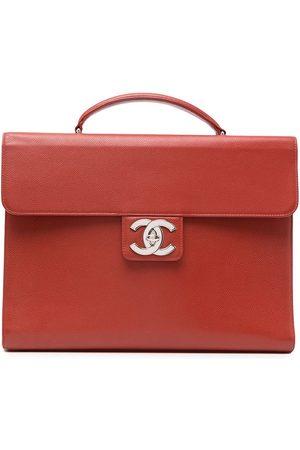 CHANEL 1998 CC turn-lock briefcase