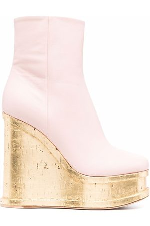 HAUS OF HONEY Women Ankle Boots - Wedge leather ankle boots
