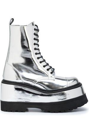 JUNYA WATANABE Metallic-finish platform boots