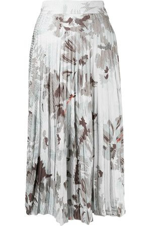 OFF-WHITE Women Printed Skirts - Floral-print pleated skirt
