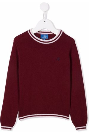 FAY KIDS Boys Jumpers - Embroidered-logo jumper