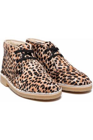 Clarks Leopar-print ankle boots