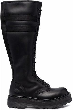 Premiata Women Knee High Boots - Striped knee-high boots