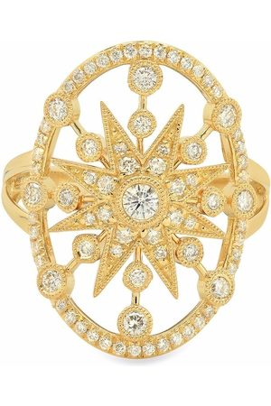 COLETTE 18kt yellow large star circle diamond ring