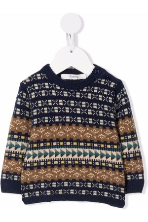 BONPOINT Baby Jumpers - Intarsia-knit buttoned jumper