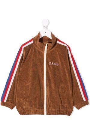 Mini Rodini Side-stripe terry track jacket
