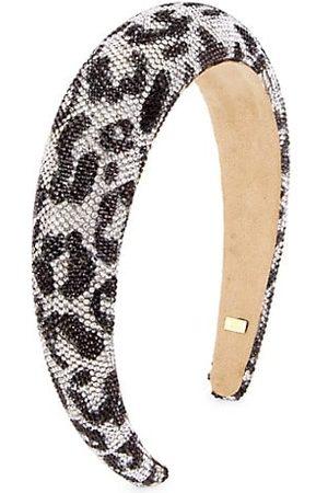 Bari Lynn Girls Headbands - Girl's Puffy Leopard Crystal Headband