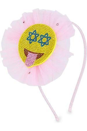 Bari Lynn Girls Headbands - Girl's Hanukkah Crystal Smiley Headband