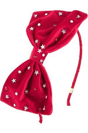 Bari Lynn Girl's Swarovski Bow Headband