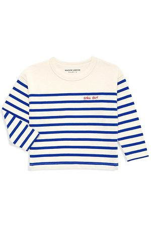 """Maison Labiche Boys Long Sleeve - Baby's """"Chill Out"""" Sailor-Striped T-Shirt"""