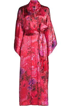 Natori Floral Silk Robe