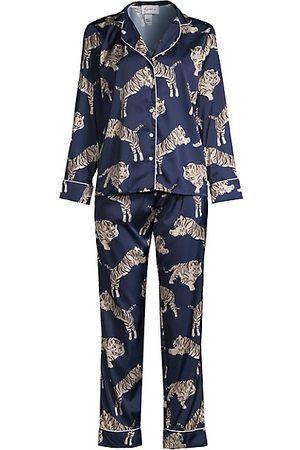 Averie Sleep Two-Piece Tiger Print Pajama Set
