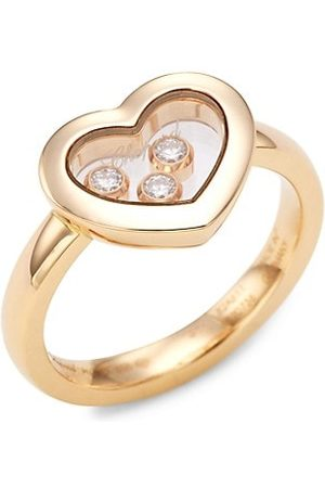 Chopard Happy Diamonds 18K Rose & Diamond Heart Ring