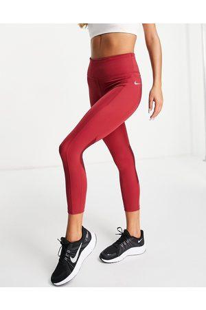 Nike Dri-FIT Fast cropped leggings in dark