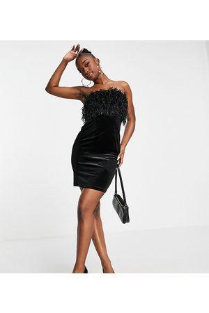 Jaded Rose Exclusive faux fur velvet mini dress in