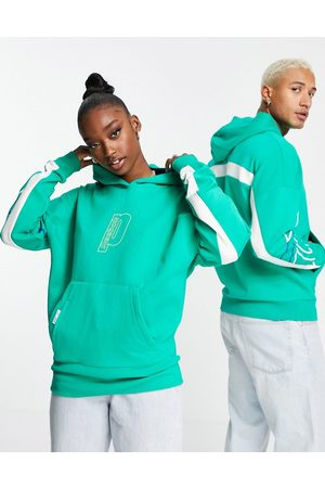 Reebok X Prince unisex retro hoodie in and white
