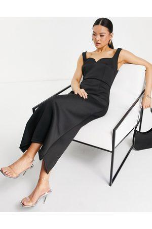 Jarlo Piper midi dress with square neck in