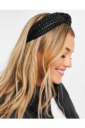 My Accessories London knotted woven headband in