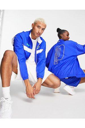 Reebok X Prince unisex retro track jacket in cobalt and white
