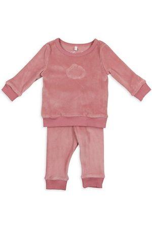Pouf Sweatshirts - Baby's & Little Kid's 2-Piece Sweatshirt & Joggers Velour Set