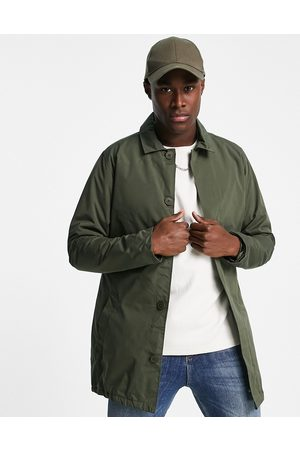 French Connection Lined mac jacket in khaki