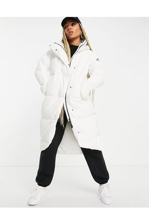 adidas Adidas Outdoor longline down puffer jacket in