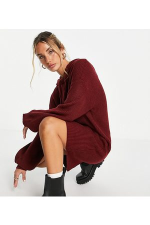M Lounge Women Casual Dresses - Oversized knitted hoodie dress
