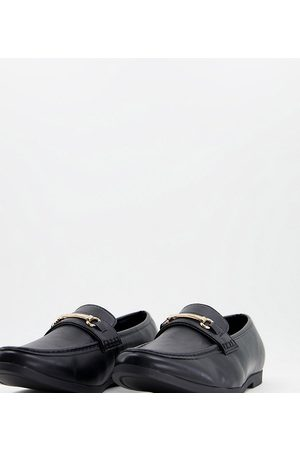 Truffle Collection Men Loafers - Wide fit snaffle trim loafers in faux leather