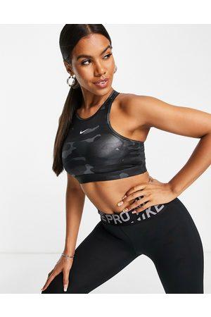 Nike Women Sports Bras - One Dri-Fit high shine camo medium support sports bra in