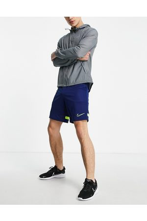 Nike Academy shorts in navy and volt
