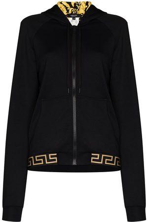 VERSACE Women Hoodies - Baroque print lined hoodie