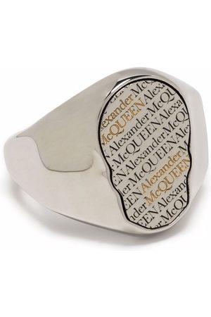 Alexander McQueen Men Rings - Logo print skull ring