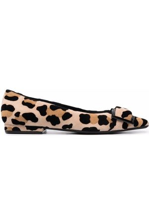 Sergio Rossi Women Loafers - Leopard-print buckled loafers