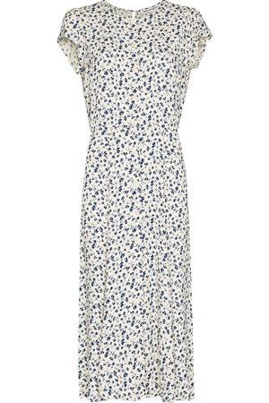 Reformation Women Casual Dresses - Fauna floral-print midi shirtdress