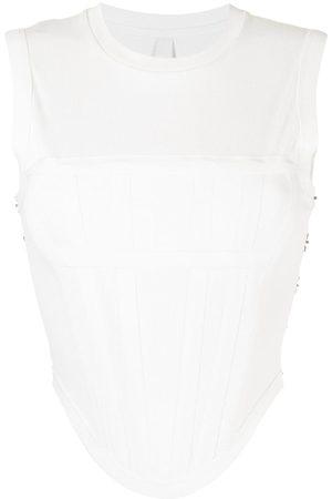 DION LEE Women Tank Tops - Ribbed sleeveless corset