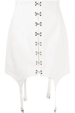 DION LEE Women Corsets - Corset-style suspender-detail skirt