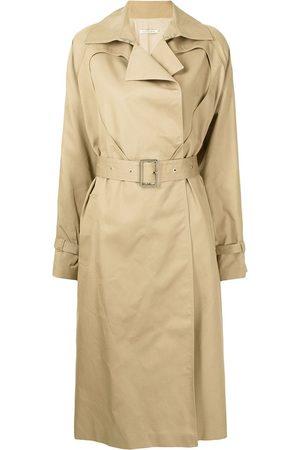 Boyarovskaya Heart-cut belted trench coat