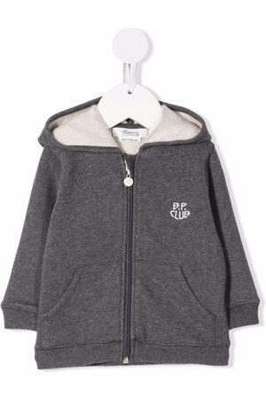 BONPOINT Baby Hoodies - Embroidered-logo zip-up hoodie
