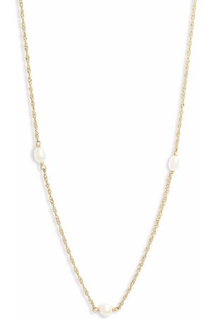 POPPY FINCH 14kt yellow Spaced Pearl necklace
