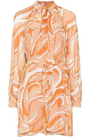Emilio Pucci Nuages-print shirt dress