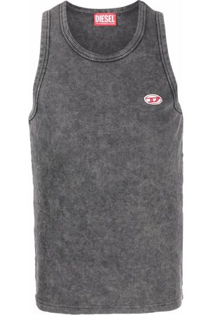 Diesel Logo-embroidered cotton tank top