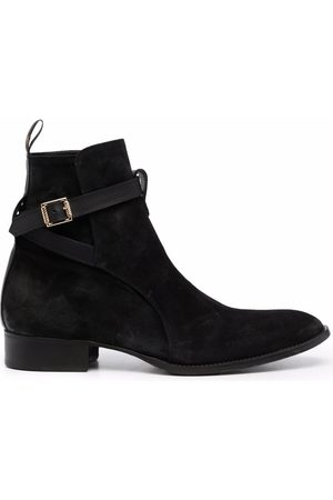 Giuliano Galiano Buckled strap ankle boots