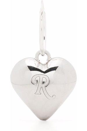 RAF SIMONS Men Earrings - Engraved logo heart earring