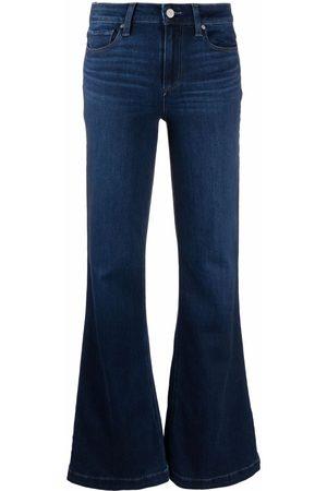 Paige Cotton-blend flared jeans