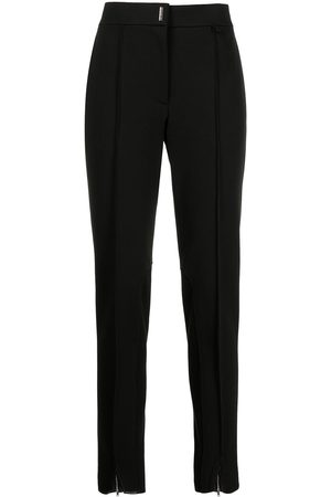 Givenchy Logo-plaque skinny-cut trousers